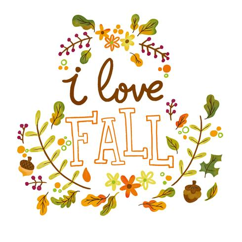 Fall Leaves Falling Wallpaper Cute Autumn Leaves And Branches With Lettering Download