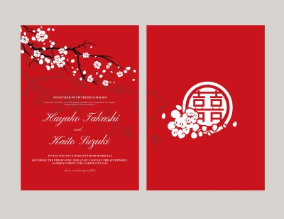 Japanese style invitation vector - Download Free Vector ...