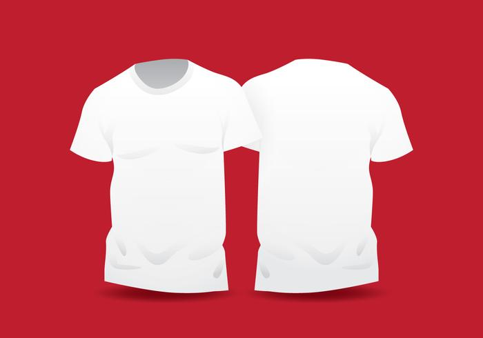 Realistic White Blank T Shirt Template - Download Free Vector Art