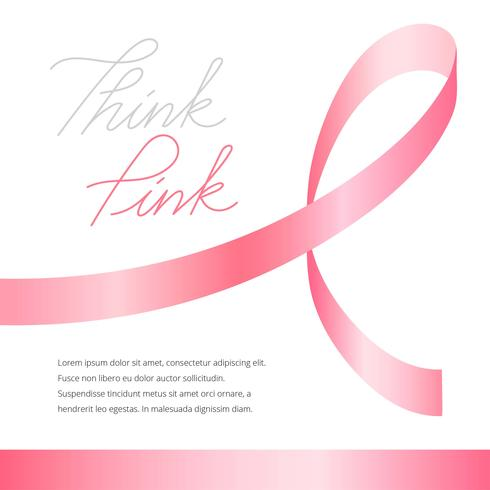 Breast Cancer Awareness Ribbon Template - Download Free Vector Art