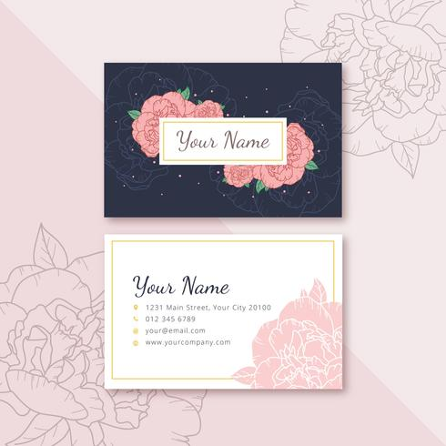 Feminine Name Card - Download Free Vector Art, Stock Graphics  Images - card