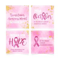 Vector Breast Cancer Awareness Template - Download Free ...