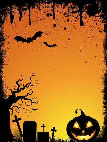 Fall Desktop Wallpaper With Pumpkins Grunge Halloween Background Download Free Vector Art