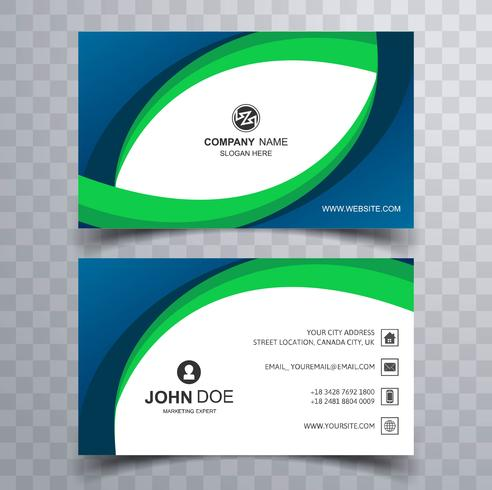 Abstract creative business card wave template design - Download Free