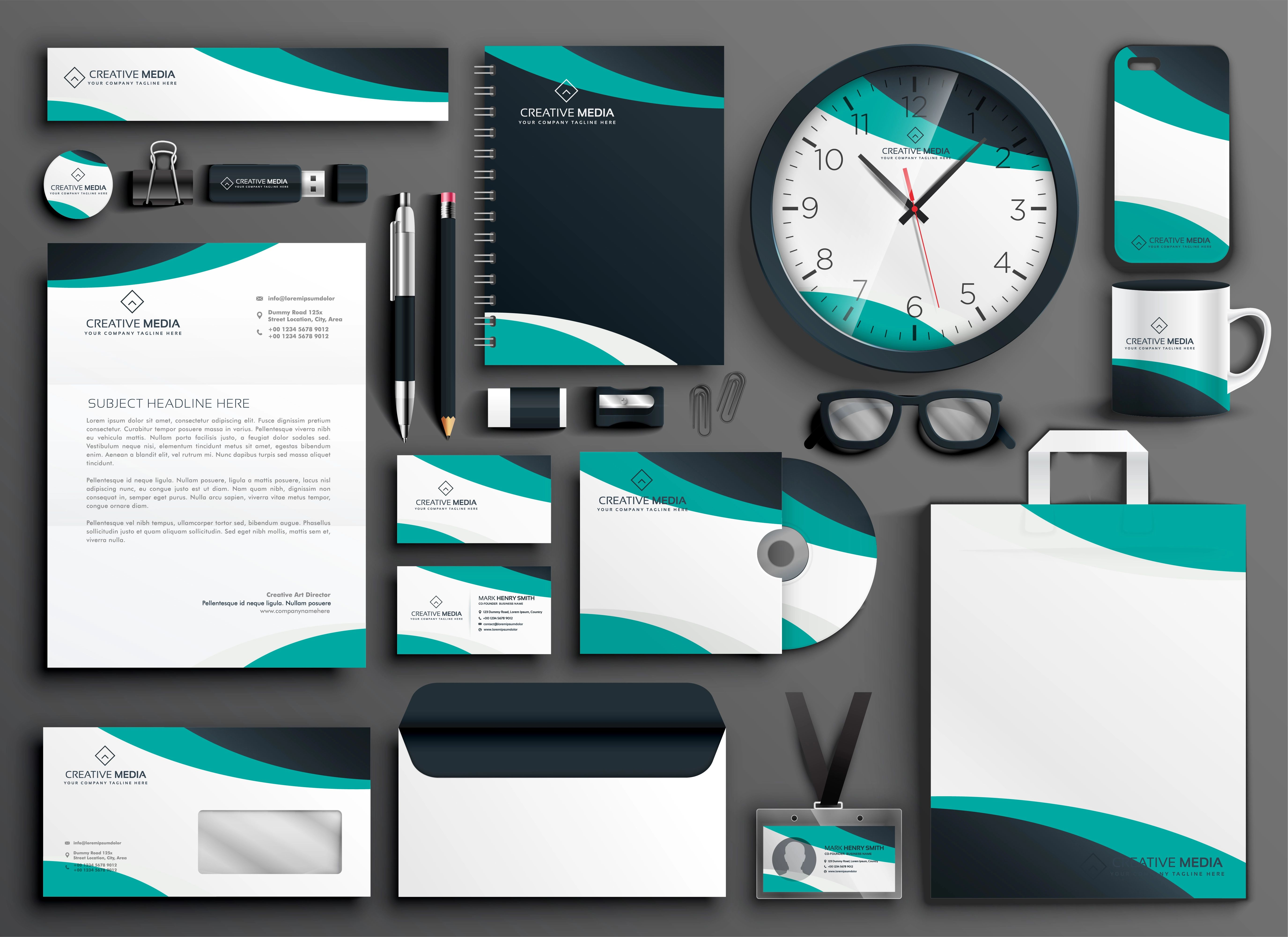 business card template office