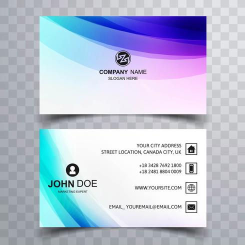Beautiful colorful business card design - Download Free Vector Art