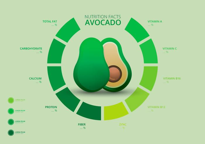 Nutrition Facts of Avocado Infographic Templates - Download Free