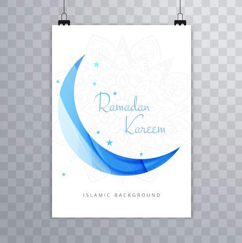 Religious Eid mubarak brochure template card design illustration