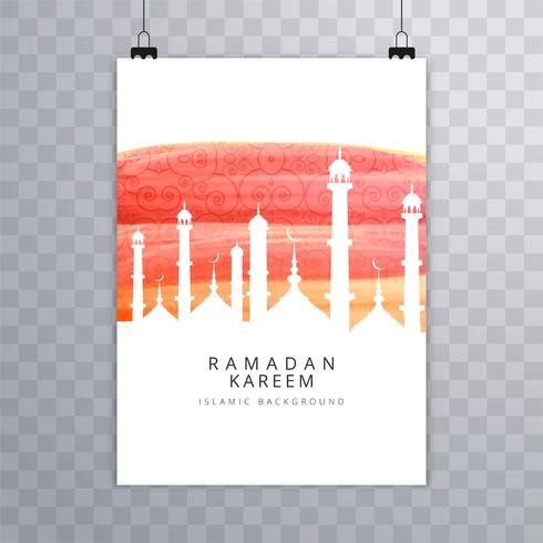 Eid mubarak card Religious brochure template vector - Download Free