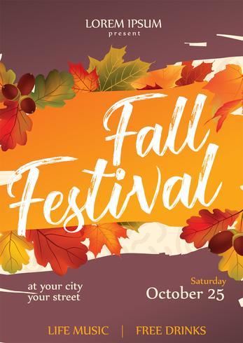 Fall Festival Flyer Vector Design - Download Free Vector Art, Stock