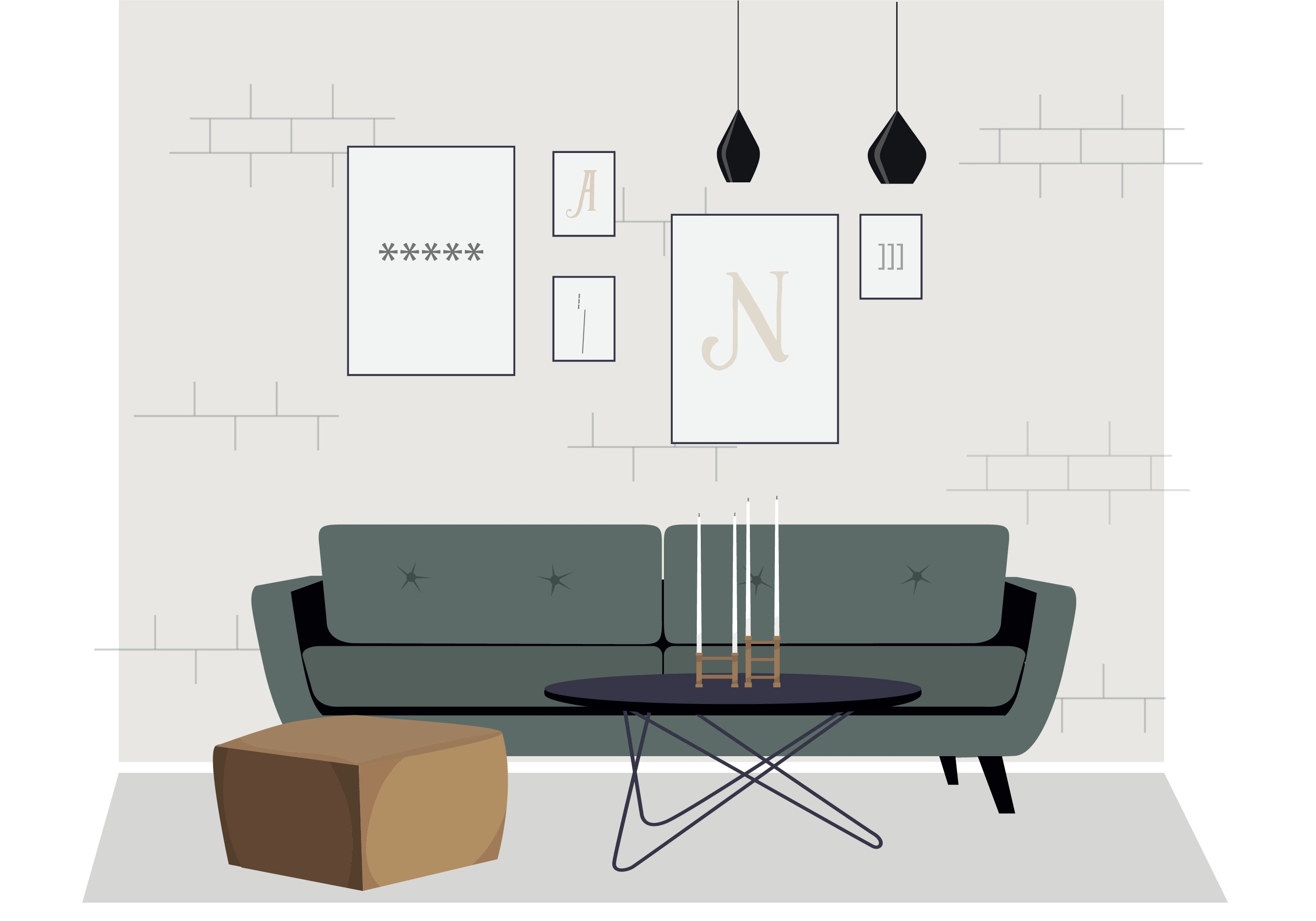 Sofa Set Vector Png Vector Living Room Furniture Illustration Download Free Vector