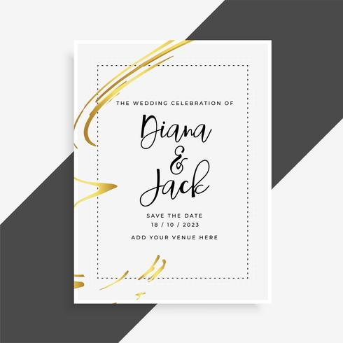 Stylish wedding card invitation template - Download Free Vector Art