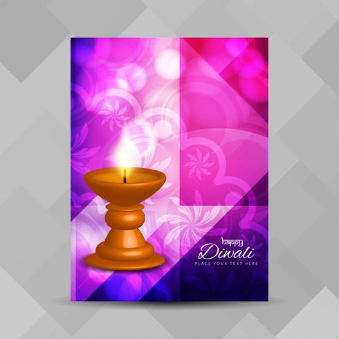Abstract Happy Diwali religious brochure design template - Download