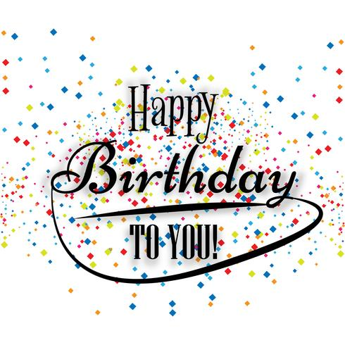 Cartão postal de aniversário Feliz aniversário para você backg