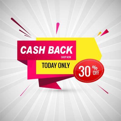 Cash back colorful sale banner design - Download Free Vector Art, Stock Graphics & Images