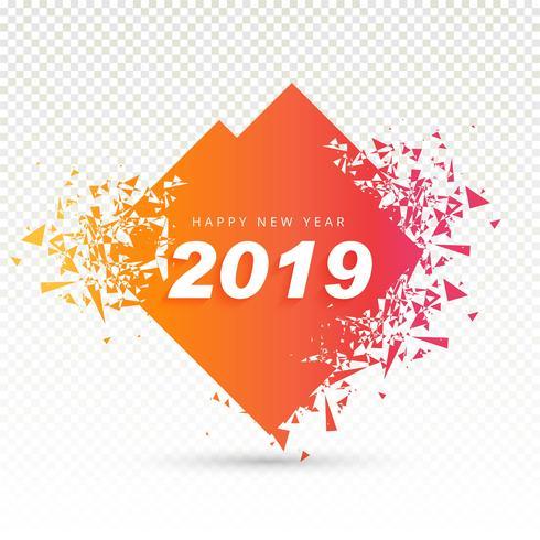 2019 Happy New Year background creative design vector - Download
