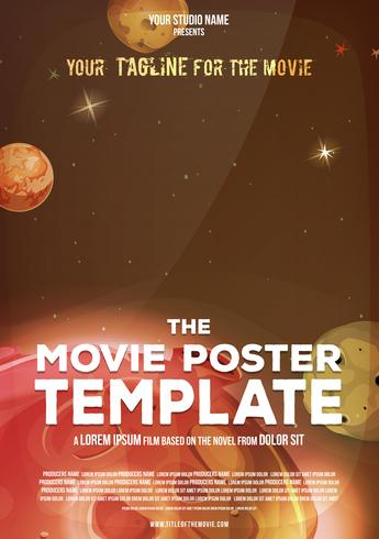 Movie Poster Template - Download Free Vector Art, Stock Graphics