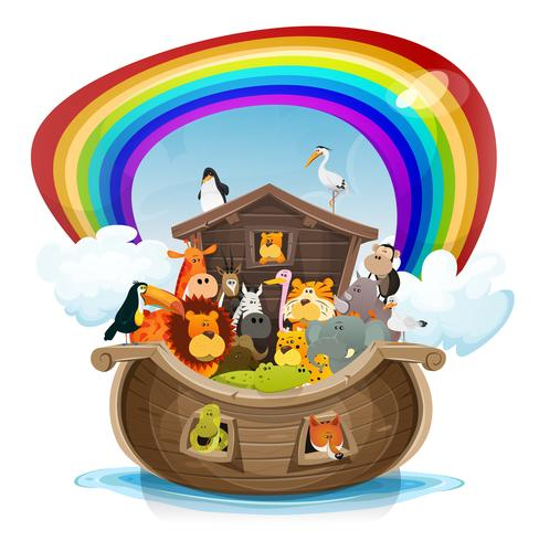 Black Panther Animal Wallpaper Noah S Ark With Rainbow Download Free Vector Art Stock
