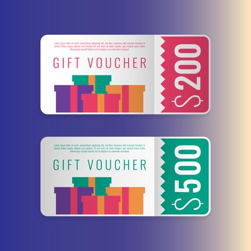 Design Concept For Gift Vouchers Templates - Download Free Vector