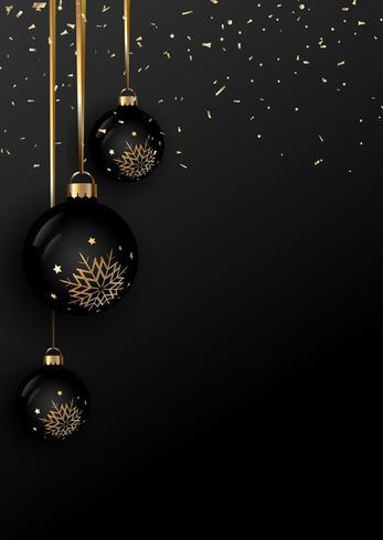 Elegant Christmas bauble background - Download Free Vector Art