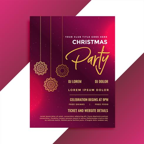 christmas party invitation template design - Download Free Vector