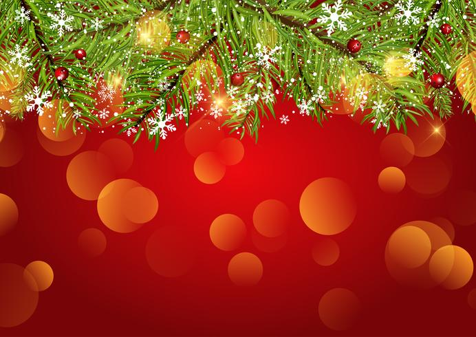 Christmas background with snowflakes and bokeh lights - Download