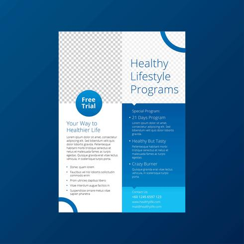 Healthy Lifestyle Programs Flyer Template - Download Free Vector Art