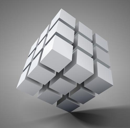 3D cube illustration - Download Free Vector Art, Stock Graphics
