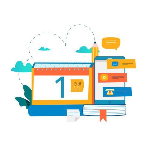 Calendar, planner, schedule, memo, timeline concept - Download Free