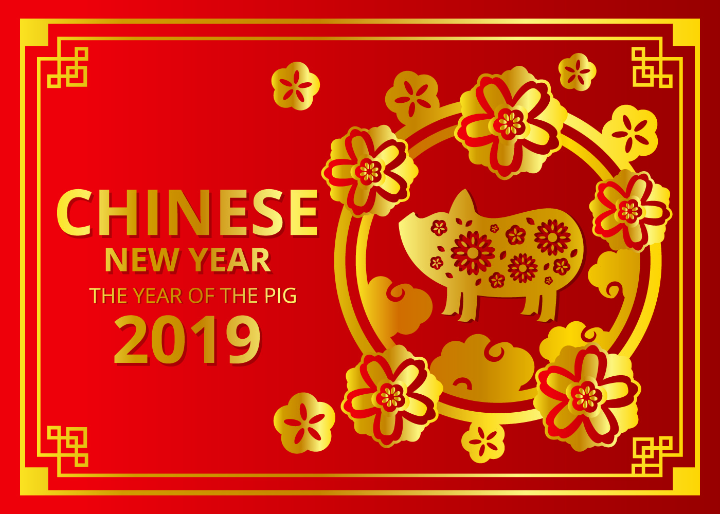 Chinese Dierenriem 2019 2019 Chinees Nieuwjaar Vector Download Gratis Vectorkunst En