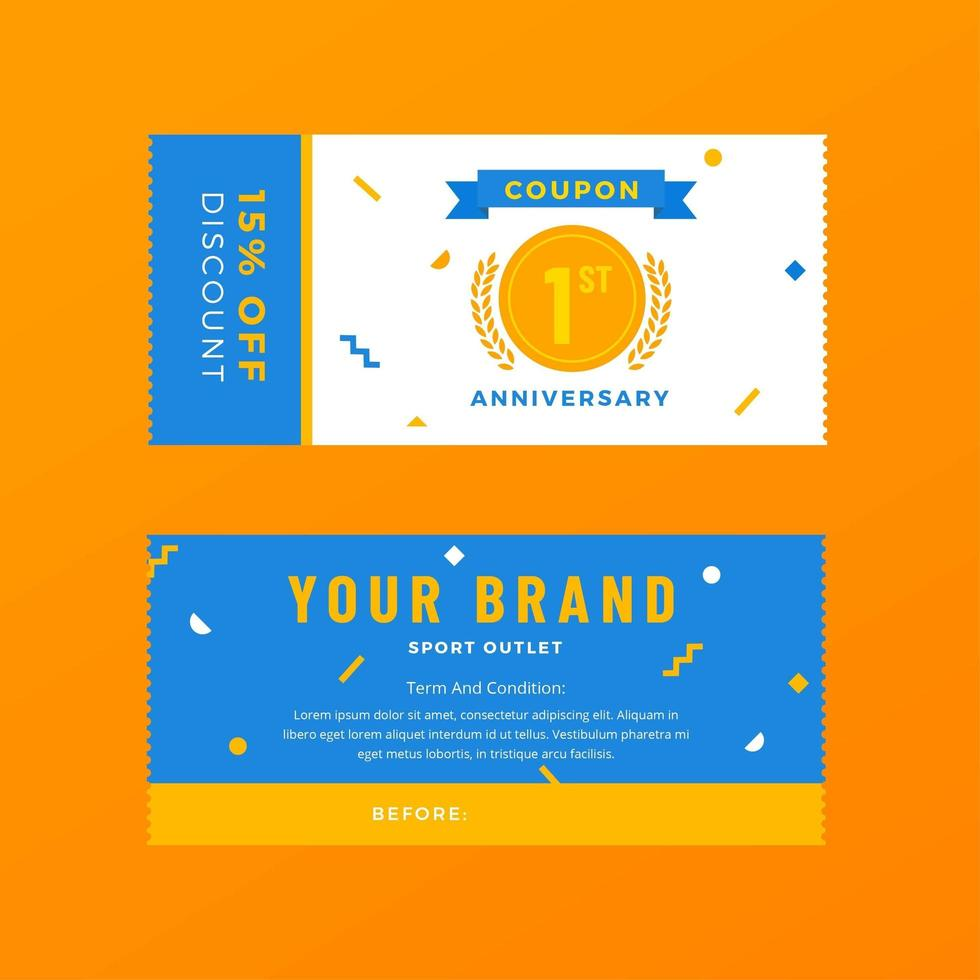 Sport Shop Fashion Discount Coupon Template - Download Free Vector