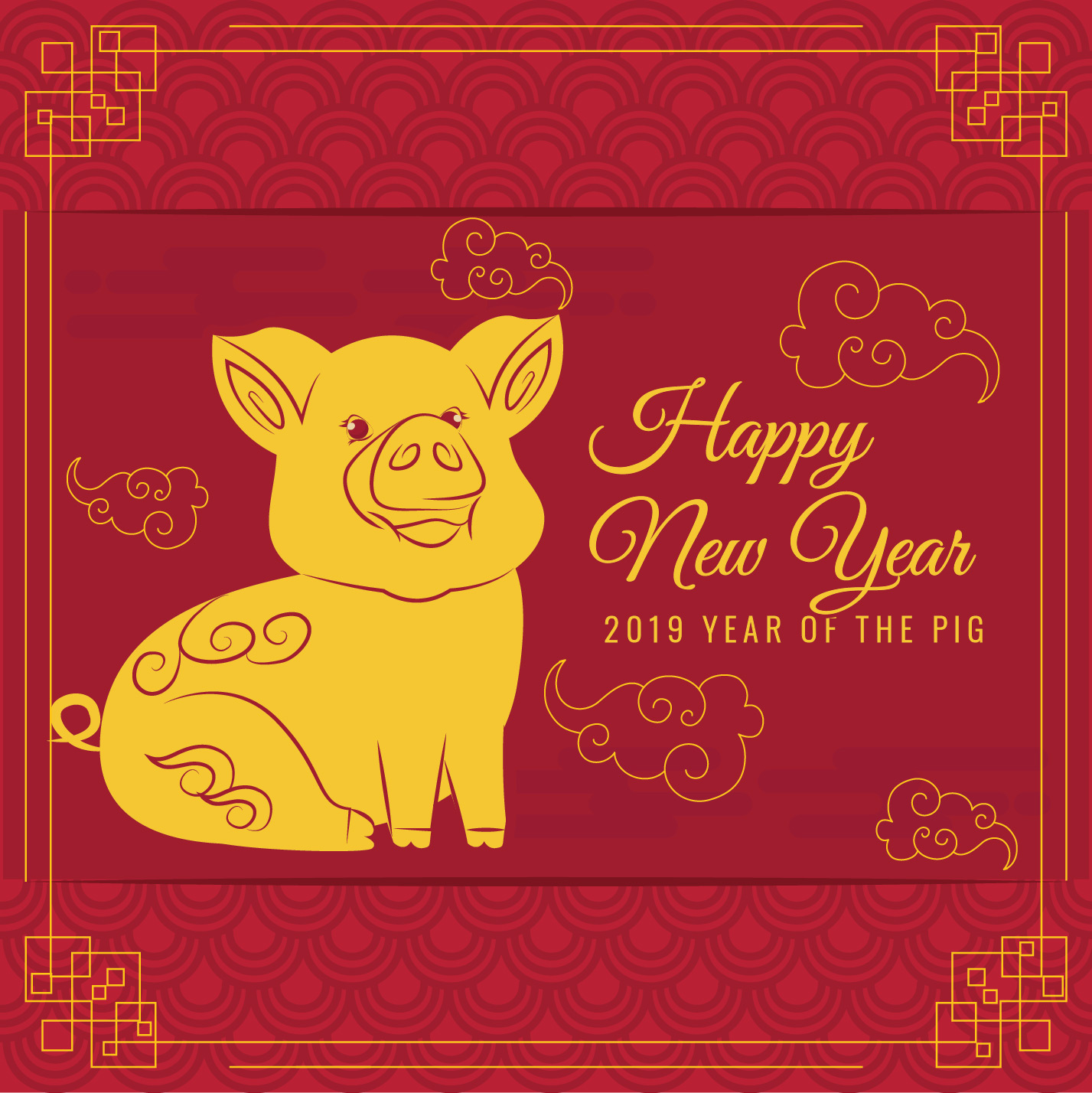 Chinese Dierenriem 2019 Vector 2019 Chinees Nieuwjaar Download Gratis Vectorkunst En