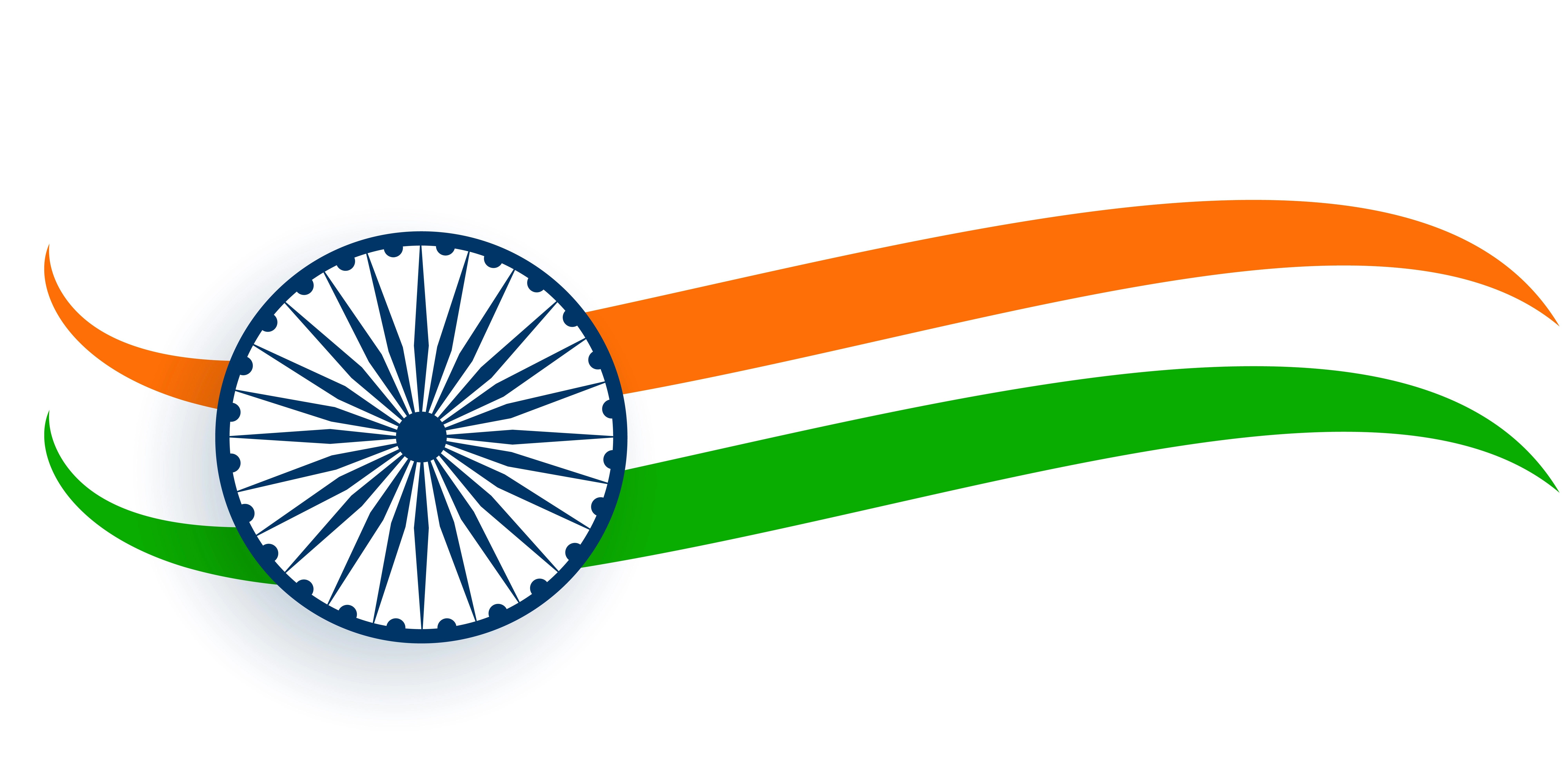 Drapeau India Flag Of India In Wavy Trocolor Style Download Free Vector Art