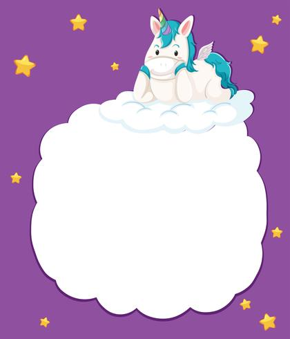 A cute unicorn template - Download Free Vector Art, Stock Graphics