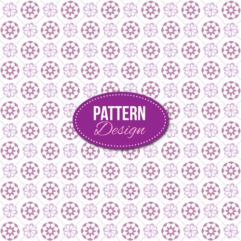 Purple pattern with mandala and floral designs - Download Free
