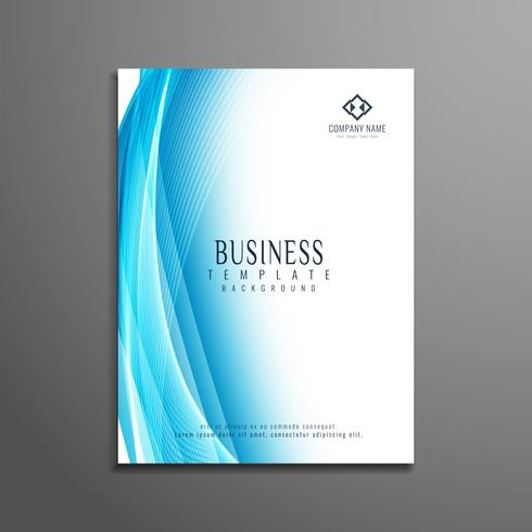 Abstract blue wavy elegant business flyer template - Download Free