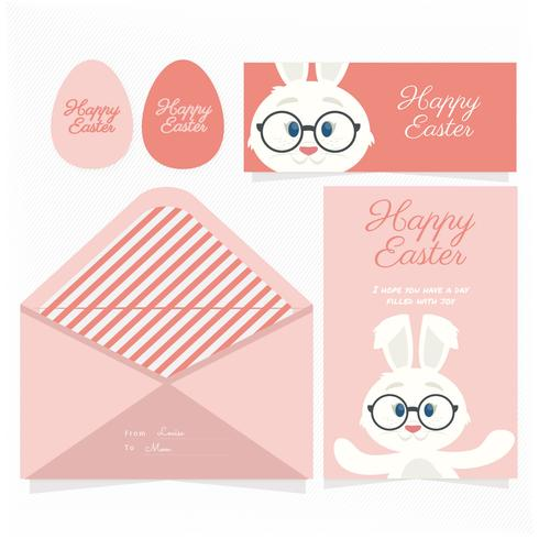 Vector Easter Card Template - Download Free Vector Art, Stock