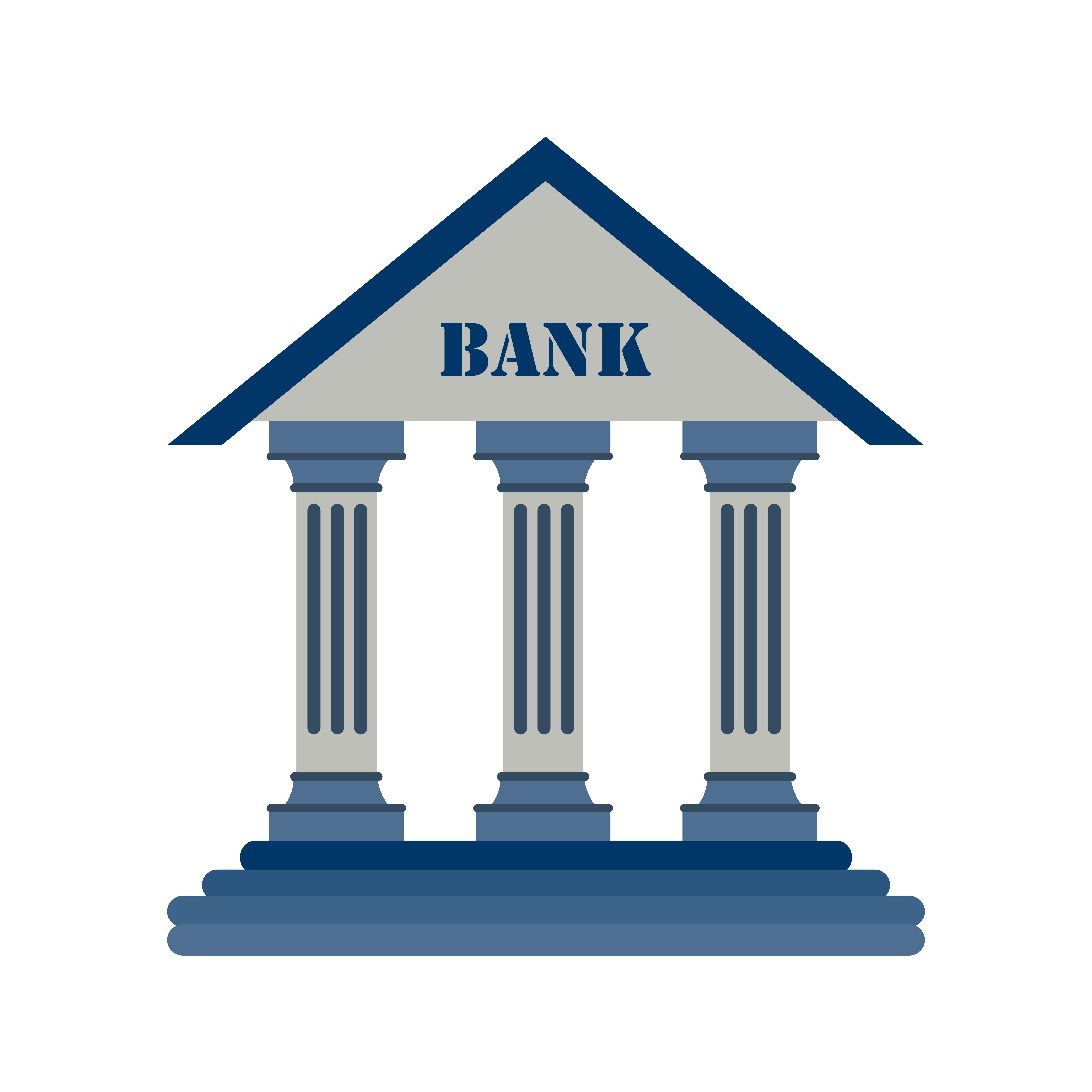 Bank Vector Icon Download Free Vectors Clipart Graphics - Banken Logo