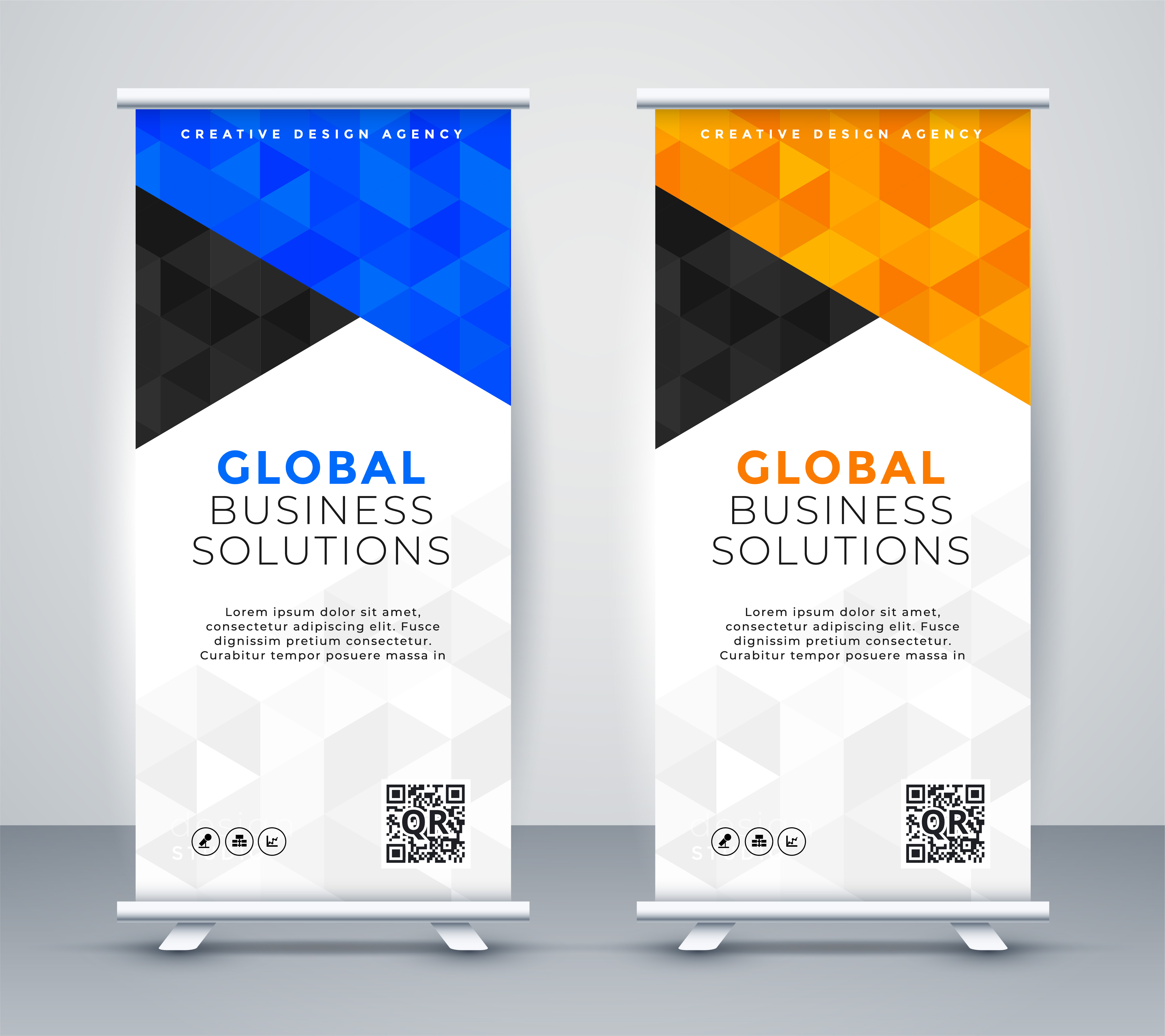 Rollup Modern Rollup Standee Banner Template Download Free Vector Art