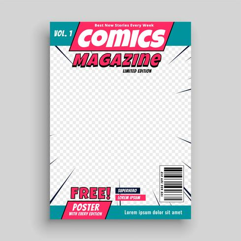 comic magazine cover page template - Download Free Vector Art, Stock