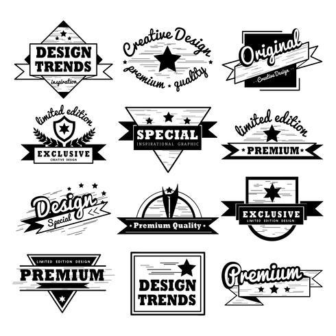 Badge design set - Download Free Vector Art, Stock Graphics  Images