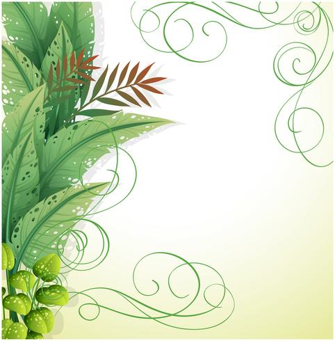 A white paper with green plants - Download Free Vector Art, Stock