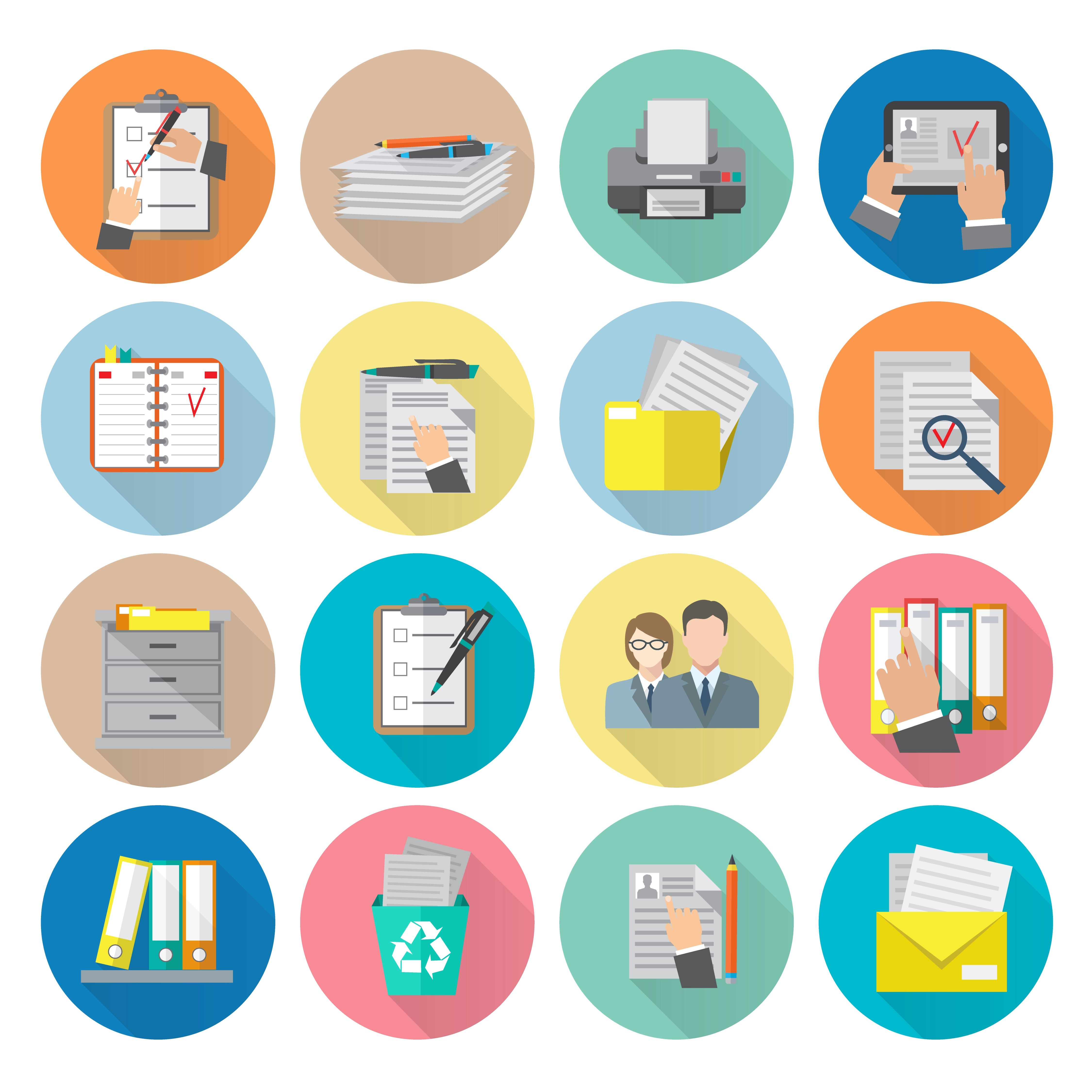 Filing Cabinet Icon Flat Document Icon Flat Download Free Vector Art Stock Graphics Images