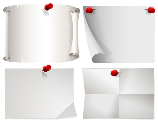 White paper the red pins - Download Free Vector Art, Stock Graphics