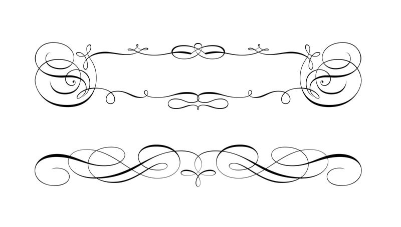 Swirly Scroll Frame and Border Vectors - Download Free Vector Art