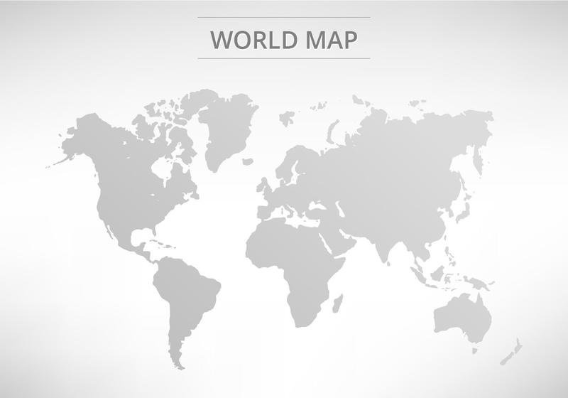 Vector Grey World Map - Download Free Vector Art, Stock Graphics - Black And Grey World Map