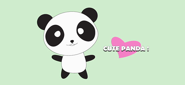Cute Panda Cartoon Character