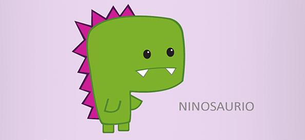 Vector Dinosaur Character – Ninosaurio