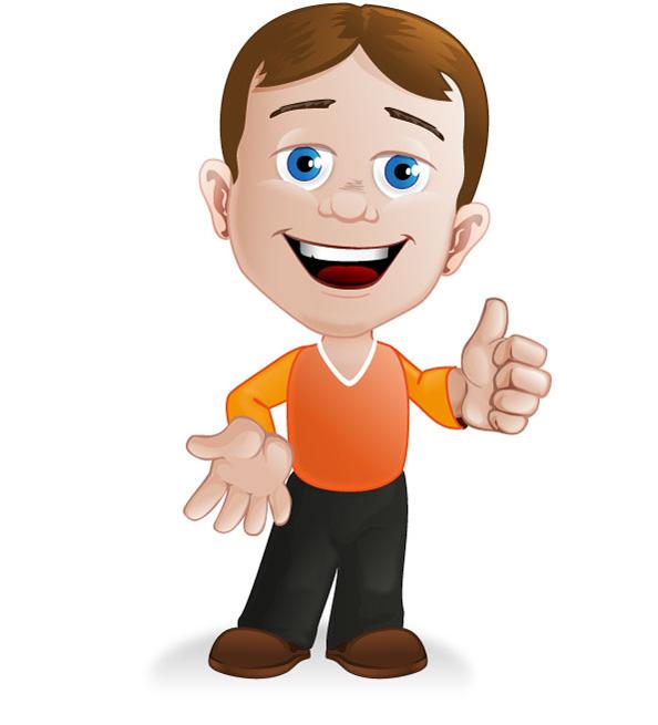 Cartoon Characters Boy : Boy cartoon character vector characters