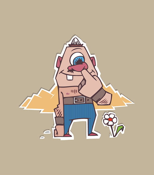 Funny Monster Cartoon Character Preview